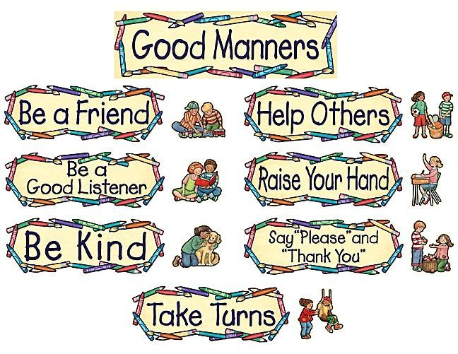 Manners Preschool Theme Good Manners Mini Bulletin Board Manners