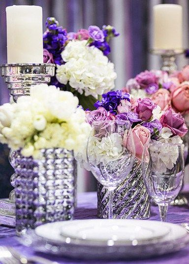 Purple Silver Pink And White Wedding Ideas
