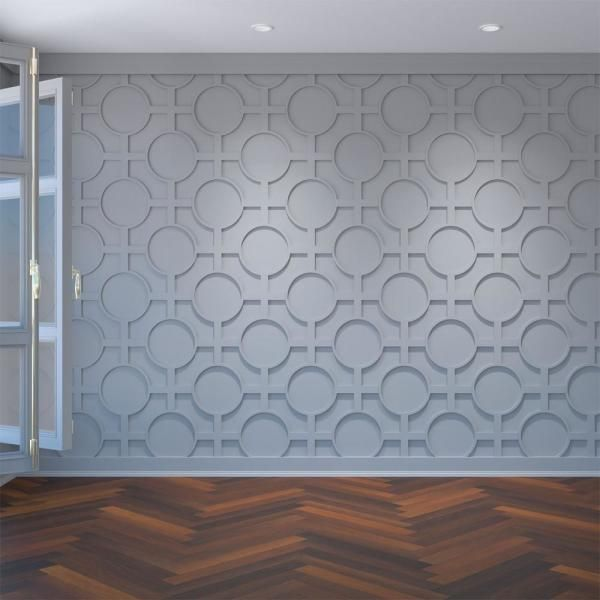 Ekena Millwork 3 8 In X 28 1 2 In X 15 3 4 In Medium Chesterfield White Architectural Grade Pvc Decorative Wall Panels Walp16x16chf In 2020 Decorative Wall Panels Pvc Wall Panels White Wall Paneling