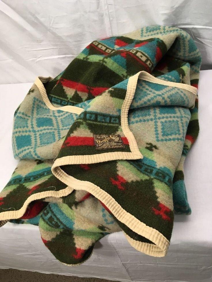 A Genuine JACOB'S OREGON CITY Wool Blanket 44x66