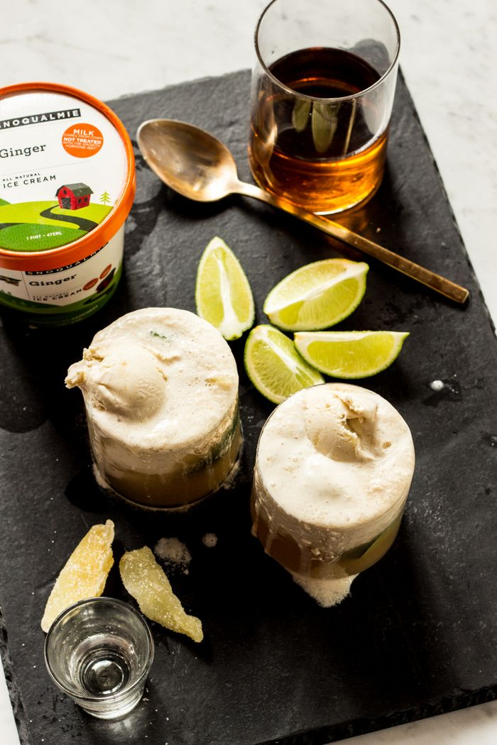 Whiskey Ginger Float | whiskey, ginger beer, lime and ice cream ...