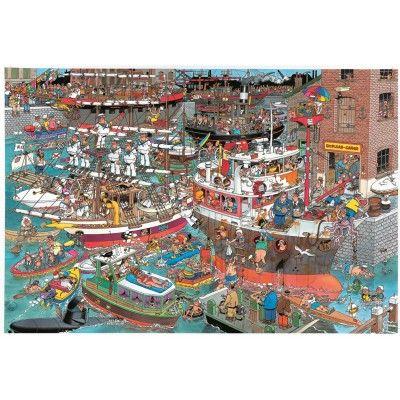 Puzzle 1500 pièces - Jan Van Haasteren : Le port en folie - Jumbo-02065