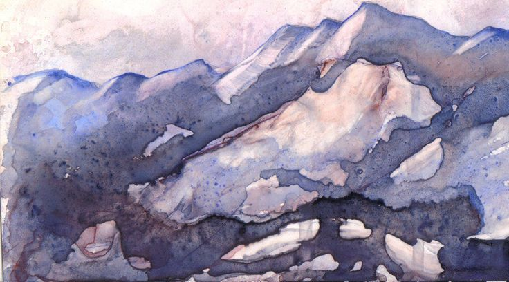 Alberta mountains by Arlyn