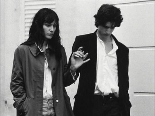 """Louis Garrel and Clotilde Hesme on the set of """"Les amants réguliers"""""""