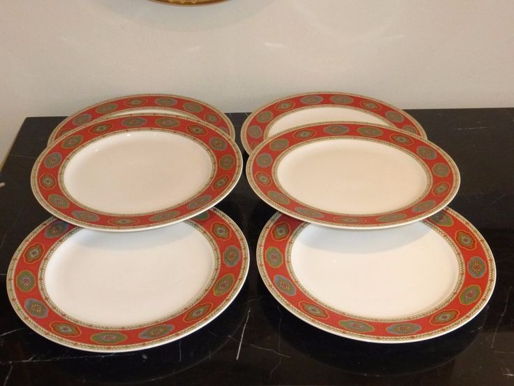 Rosenthal Belgravia Nina Campbell 6 Salad Plates Classic Germany Pearl #Rosenthal