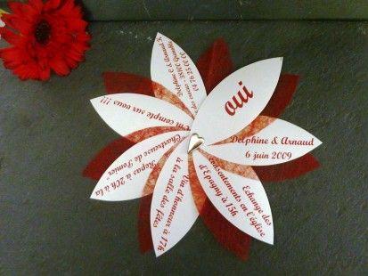Lot de 70 Faire-part mariage original avec enveloppe  : Faire-part par delphine-kreations-originales