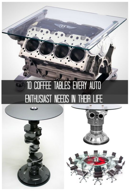 10 Coffee Tables Every Auto Enthusiast Needs In Their Life. Consider your man pad complete... #spon #coolhunter