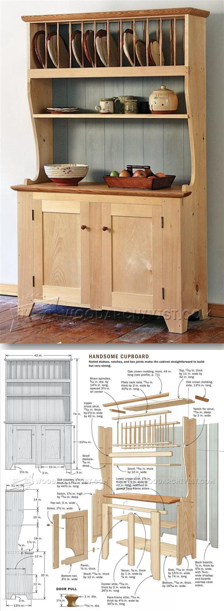 Cupboard Plans - Furniture Plans and Projects | http://WoodArchivist.com