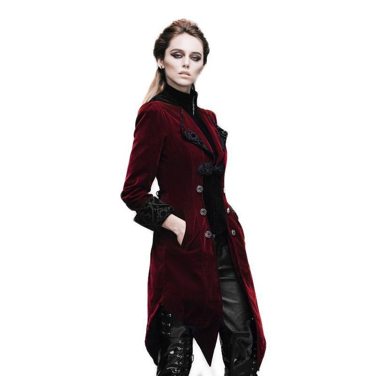 ICYMI: Steampunk Gothic Coat Women's Court Loyal Long Jackets Embroidery Printed Pocket