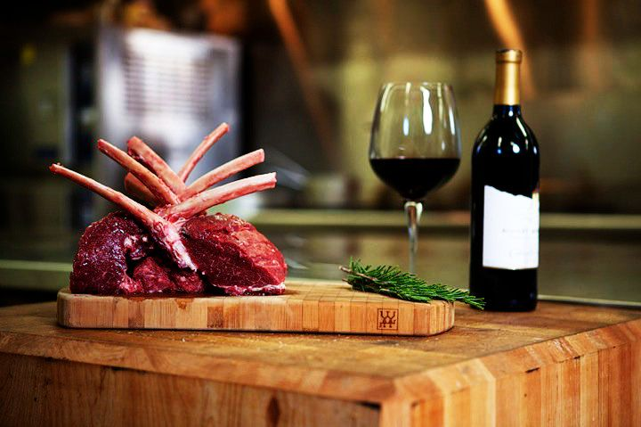 Reindeer Ribs & Red Wine served at the Aurora Village, Yellowknife Canada