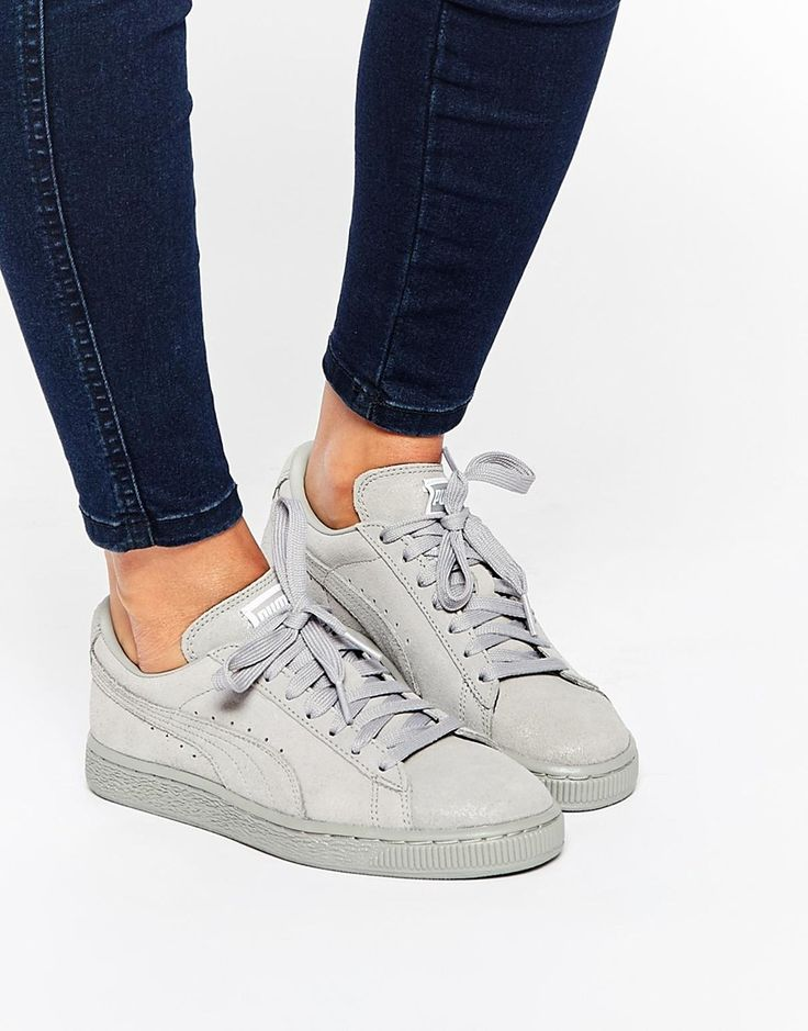 Puma Suede Classic Lo Matt Shine Grey Trainers