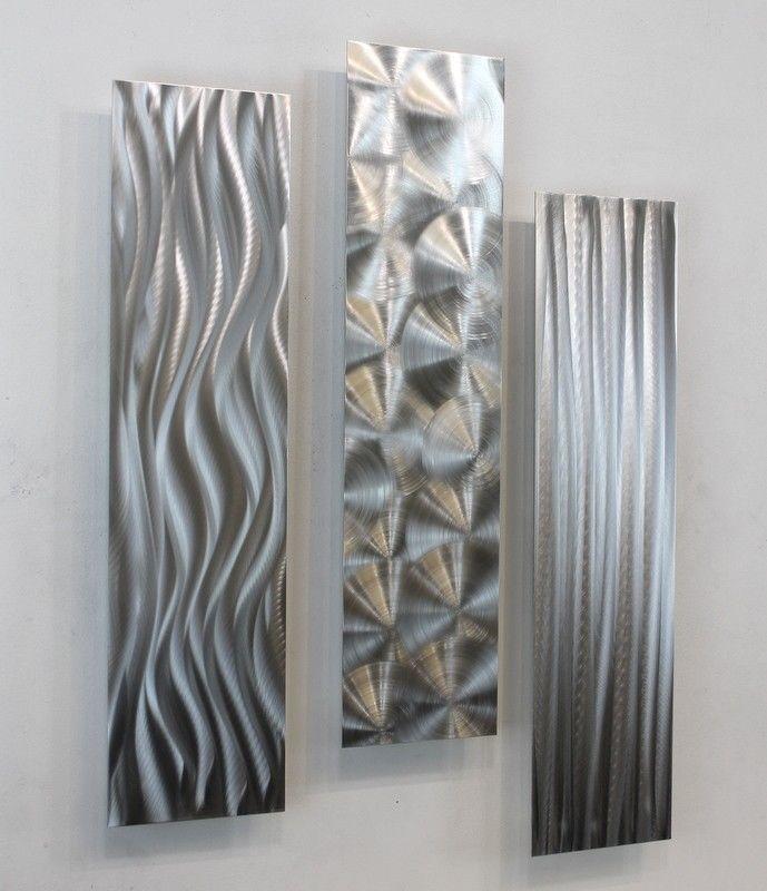 Silver Abstract Modern Wall Art Home Accent Decor   Driving Force   Jon  Allen