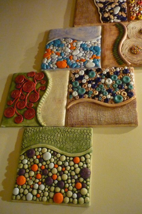ceramic and polymer clay tile art | Via Ellen-Mary Keough O'Brien