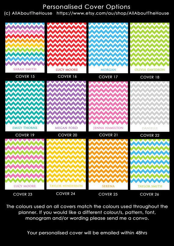 Planner Cover Personalised printable Chevron rainbow planner PDF Editable Household Binder Planner 2014 2015 day Agenda letter binder cover https://www.etsy.com/au/listing/180064643/planner-cover-personalised-printable?ref=related-0