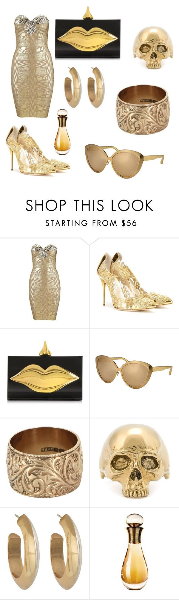 """King Midas's Hooker"" by indiana421 ❤ liked on Polyvore featuring Oscar de la Renta, Charlotte Olympia, Linda Farrow, Vintage, Mastermind, House of Harlow 1960 and Christian Dior"