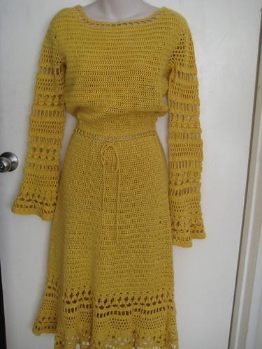 *RETRO* CROCHET DRESS - LONG SLEEVES  I want it :) !!!!!!!!!!!!!