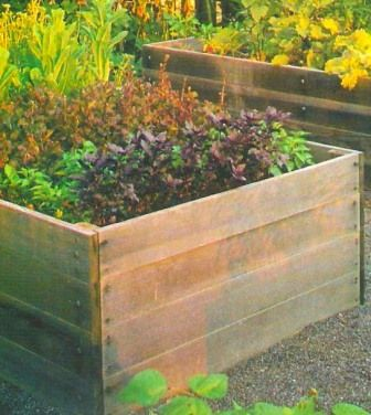 Designing A Vegetable Garden With Raised Beds simple raised bed garden frame example Find This Pin And More On Garden Raised Beds