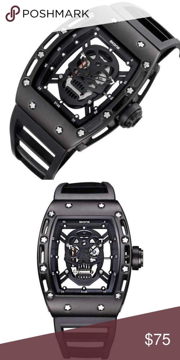 💥⚡️Flash sale for today only💥⚡️Skull Men's Watch Black Skull Men's Watch Accessories Watches