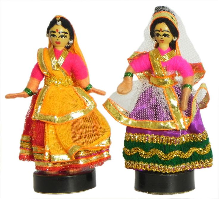 A traditional indian women dancing - hand made home decor