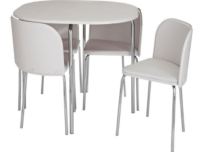 Space saver kitchen tables black white