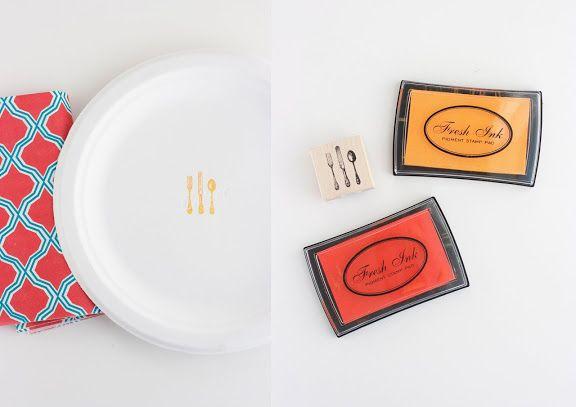 Dress up paper plates