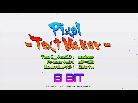 Arcade Text Maker 8bit Glitch Titles | After Effects Template