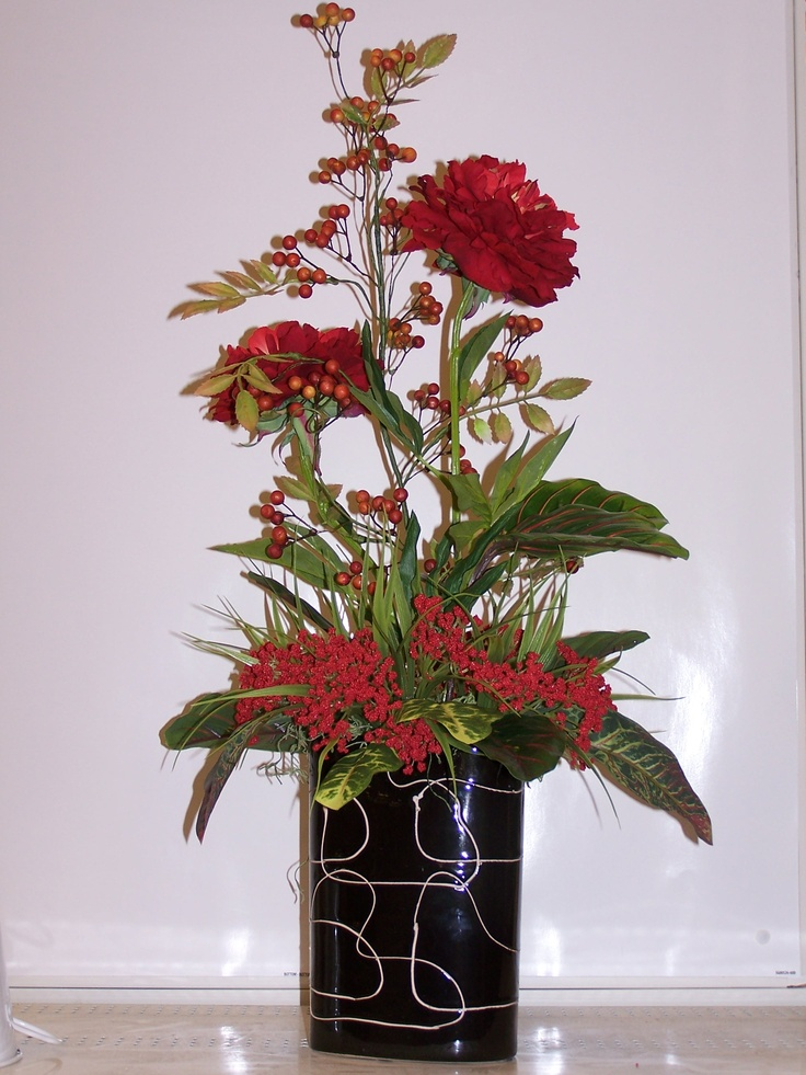 Tall Shelf Or Table Piece By Alex Plymouth Meeting Pa Silk Fl Arrangementsplymouth Meetingchristmas Vasesshelf Arrangementflower