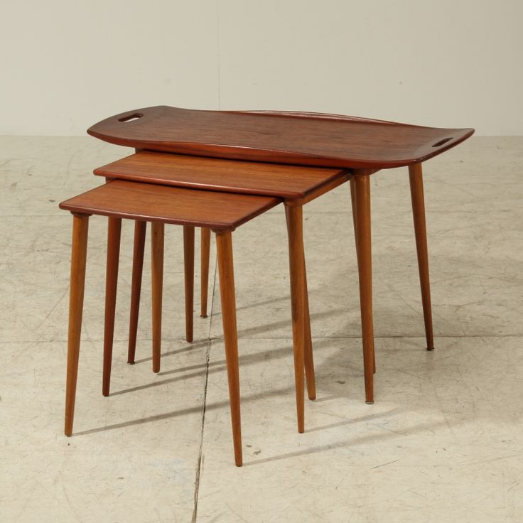 nesting tables by Jens Quistgaard
