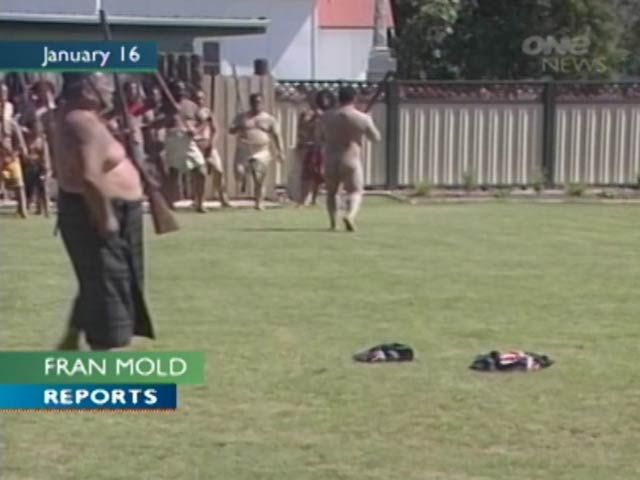 The public arguably know Iti best for his moko and for performing whakapohane (baring his buttocks) at protests.