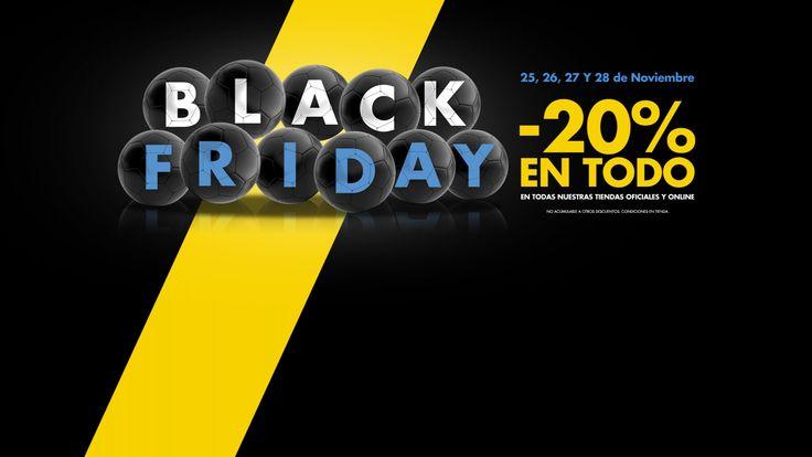 El 'Black Friday' más blanquiazul Los días 25, 26, 27 y 28 de noviembre, las Tiendas Oficiales del Málaga CF contarán con un descuento del 20% en todos los productos. Además, este jueves y viernes podrás disfrutar del Museo&Tour MCF a mitad de precio. @Malaga #9ine