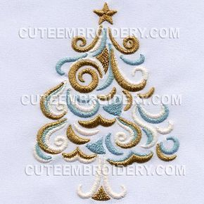 Free Embroidery Design: Christmas Tree