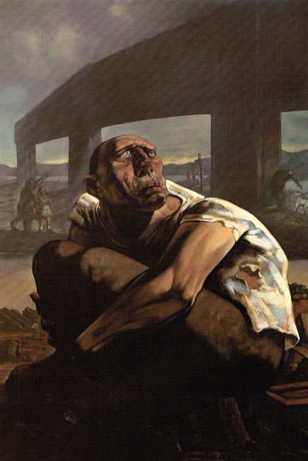 The Blind Leading the Blind - The Bridge to Nowhere by Peter Howson