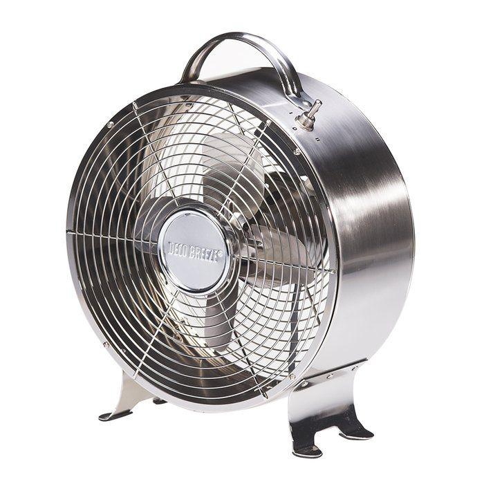 Deco Breeze 9 Table Fan Reviews Wayfair Metal Fan Table Fan Retro Fan