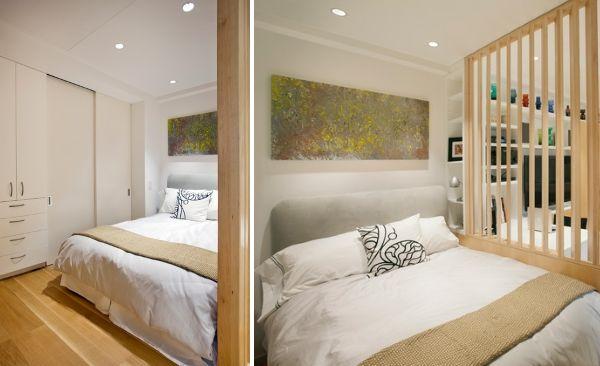 Зонирование квартиры студии - перегородка для спальни