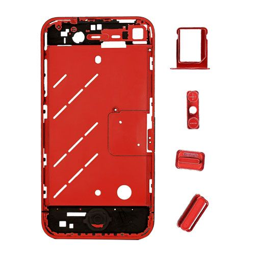 iphone 4 4s antenna chassis kit w buttons anodized. Black Bedroom Furniture Sets. Home Design Ideas