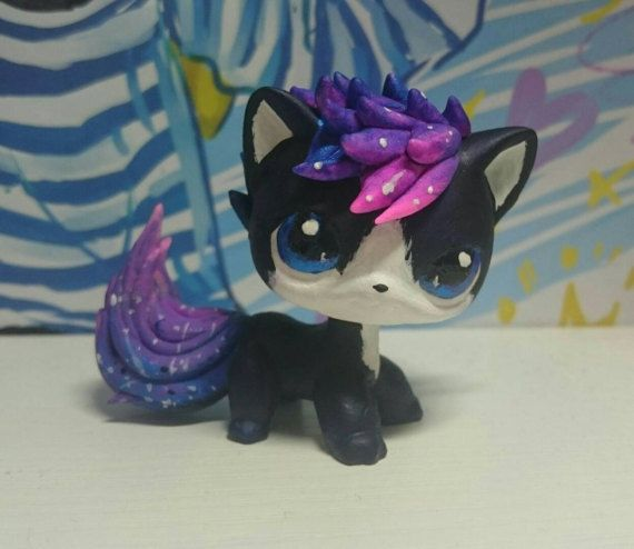 Cosmic beauty cat  space hair  ooak custom by LPS DrakoNika