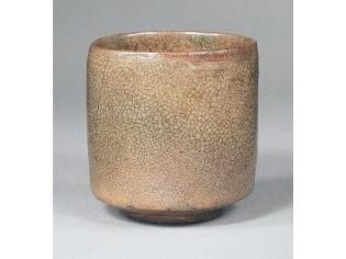 筒茶碗  銘霜夜