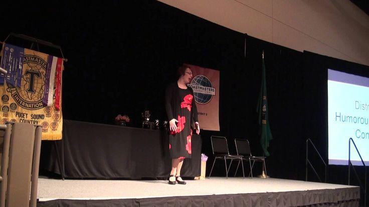 2012 Humorous Speech District 2 Champion- My husband never lies