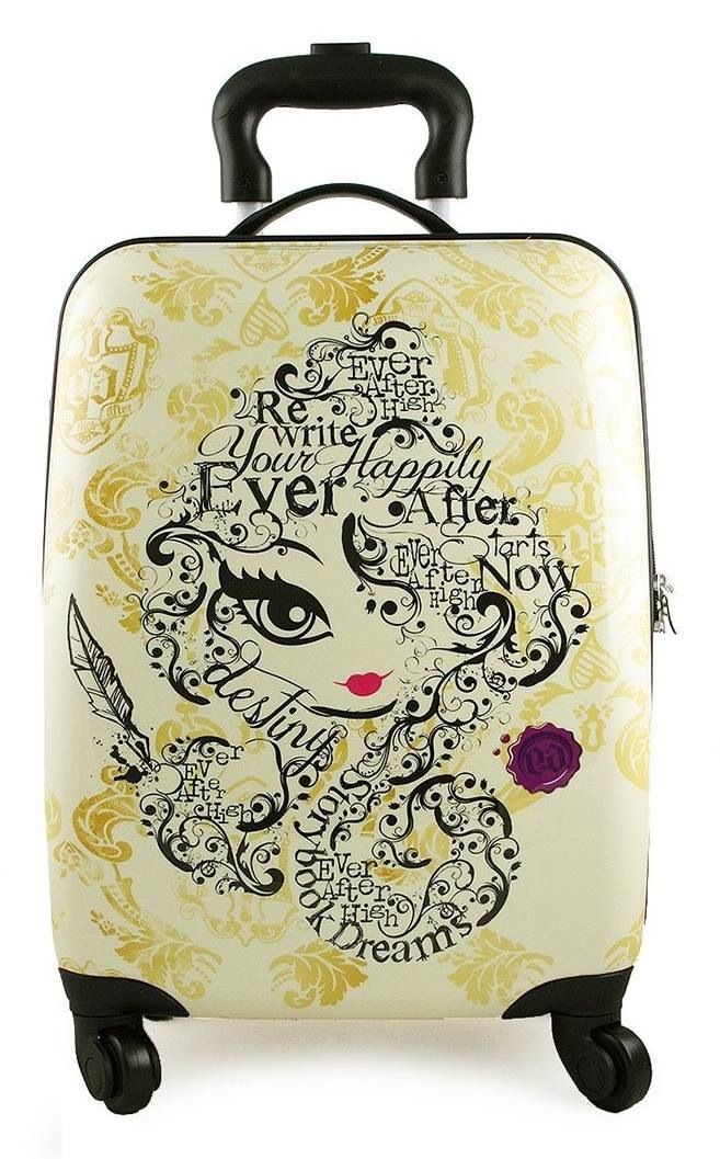 New ever after high—this is REALLY cute!  But unless its a carry-on, it would never emerge from baggage claim unscathed:/