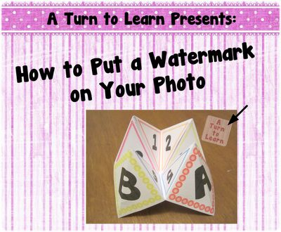 A Turn to Learn: How to Put a Watermark on Your Photo