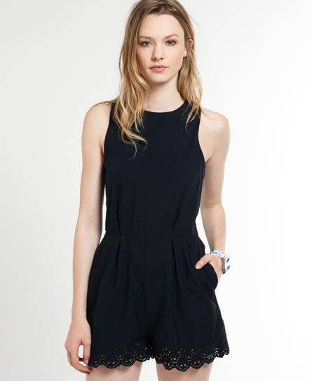 Superdry Broderie Stitch Playsuit