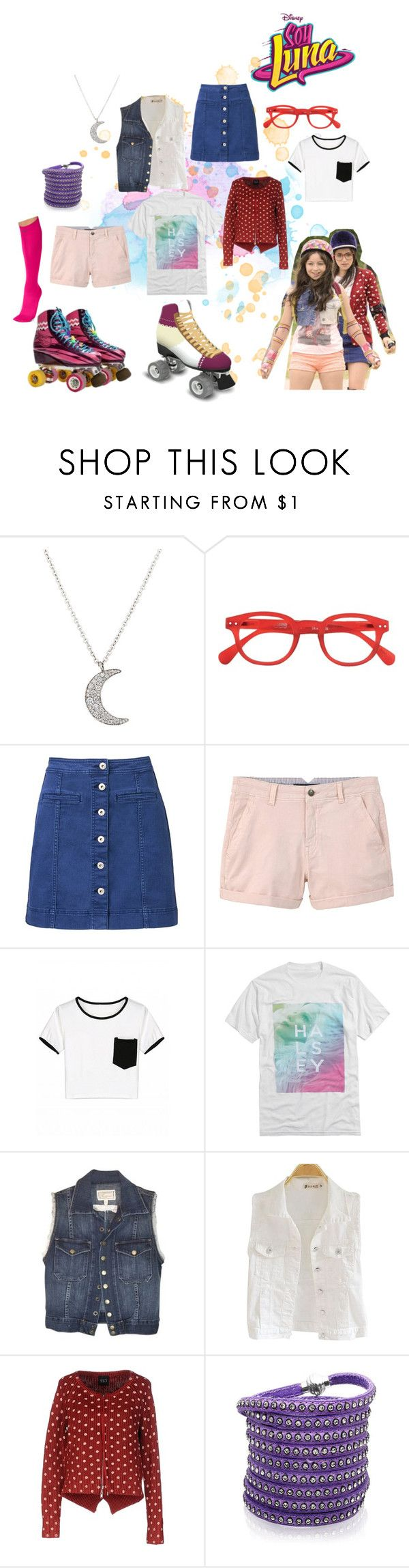 """soy luna"" by maria-look on Polyvore featuring Finn, See Concept, Witchery, MANGO, Current/Elliott, Twin-Set, Sif Jakobs Jewellery and Pretty Polly"