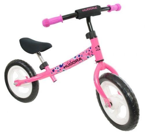 HUDORA loopfiets 'Seven', roze van Hoppa-Toys.nl. De HUDORA 'Seven' loopfiets (rood) is een ergonomisch ontworpen loopfiets en is ontwikkeld in samenwerking met de universiteit Wuppertal. Deze loopfiets van HUDORA bevordert het evenwichtsgevoel en bereidt kinderen optimaal voor op het fietsen. Van 54,95 euro voor 38,95 euro.