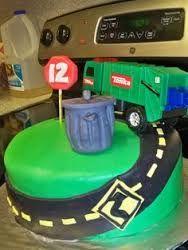 rubbish truck cupcake toppers - Google Search