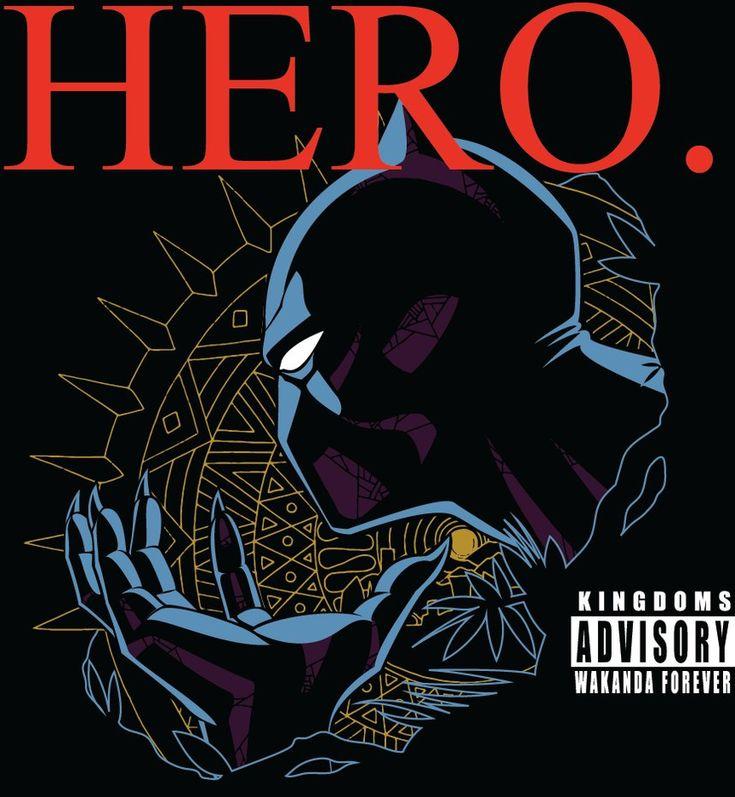 A parody design of Kendrick Lamar's DAMN. album cover featuring hector Black Panther.
