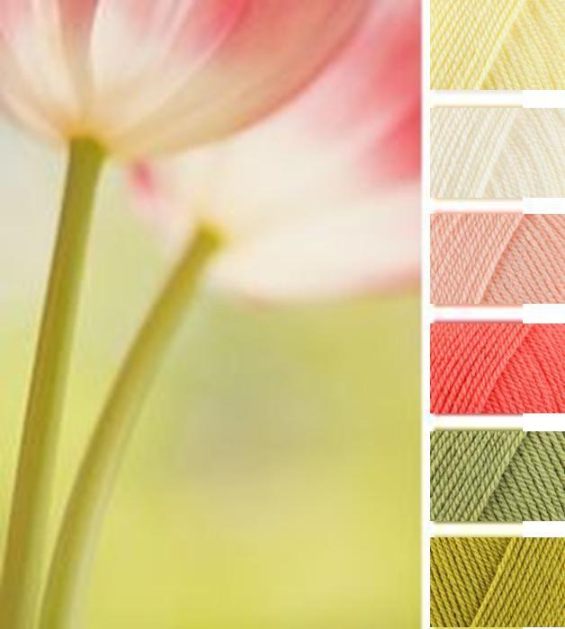 Lemon, Cream, Apricot, Shrimp, Meadow, Lime (Stylecraft Special DK Yarn Colour Palette)