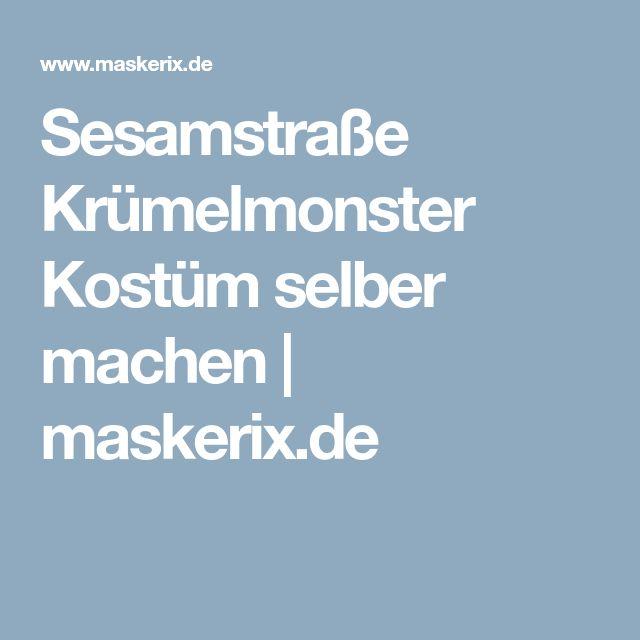 Sesamstraße Krümelmonster Kostüm selber machen | maskerix.de