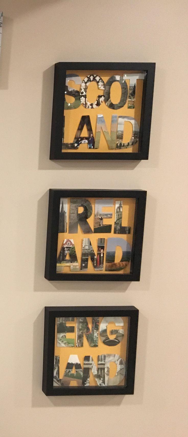 Travel photo display - my pinspiration