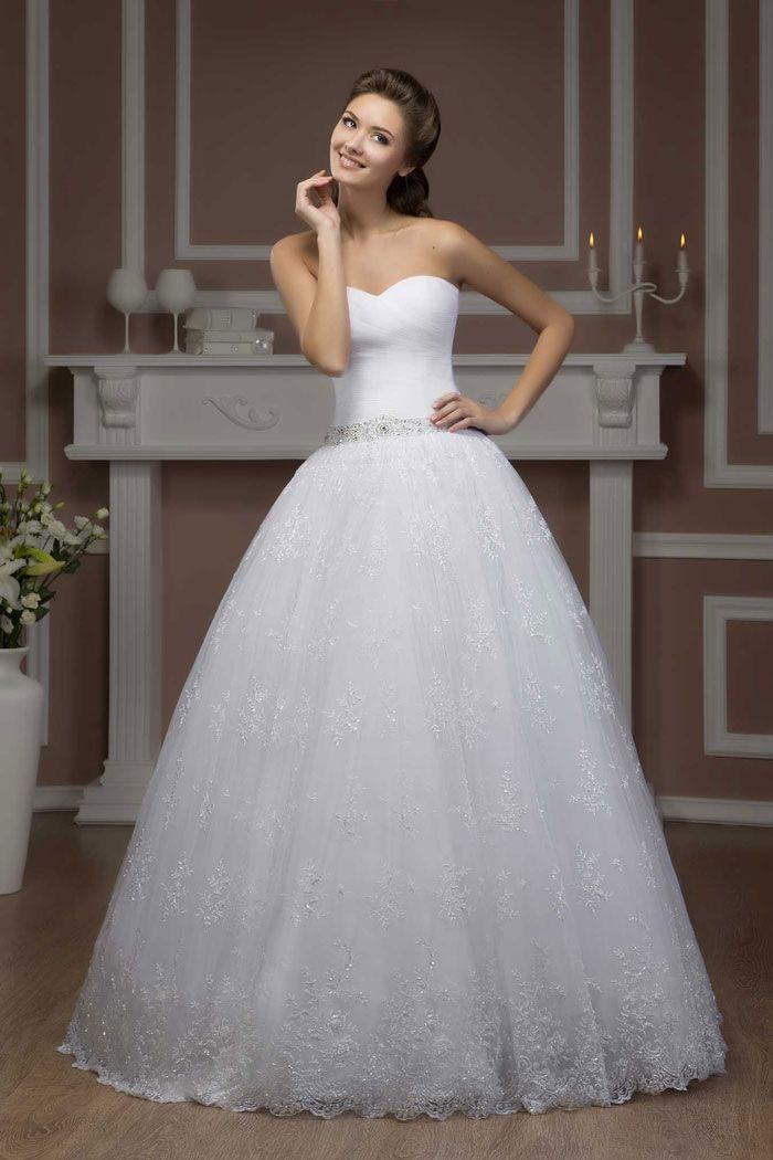 Najkrajšie svadobné šaty s čipkovou sukňou