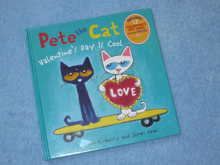 Pete The Cat ~ Valentines Day Is Cool Children's Read Aloud Story Book F...